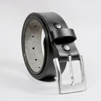 "LEATHER BELT (100% GENUINE) Black  30'' to 64"" (waist sizes)"