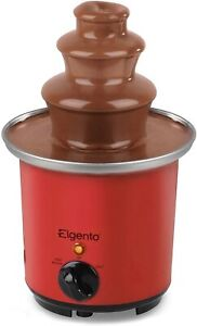 Elgento E26005R 3-Tier Mini Chocolate Fountain with Heat or Heat and Flow Easy