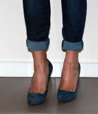 Zeis house suede blue patform heels Size 38 Eur/ US 7 UK 5 Used from Italy