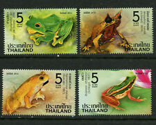 Frogs Amphibians mnh set of 4 stamps 2014 Thailand #2816-19