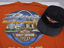 Harley Davidson L Mens T Shirt St. Louis Arch, Docs AND CHILDS HARLEY HAT