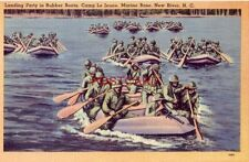 LANDING PARTY IN RUBBER BOATS, CAMP LE JEUNE, MARINE BASE, NEW RIVER, N. C.