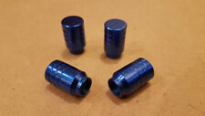 Blue Solid Metal Car Wheel Tyre Valve Caps / Dust Covers - Full Set of 4 - NEW