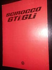 Brochure SALES BROCHURE VOLKSWAGEN SCIROCCO gti gli DATI TECNICI 1976 AUTO