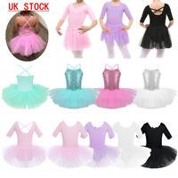 Children Girls Ballet Tutu Dress Gymnastics Leotard Ballerina Dance Wear Costume