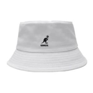 Casual Kangol Washed Bucket Hat Men Women Cotton Flat Top Hats Headwear New
