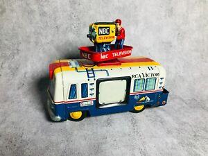 50s Yonezawa NBC Television Truck Vintage Battery Tin Toy