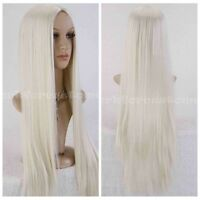 Women's Straight Long Cosplay Party Wigs Brown/Black/Blonde Heat Resistant Hair