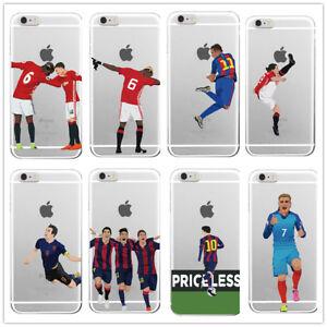 FOOTBALL Phone Cover Case iPhone Samsung J3 5 S9 10 6 7 8 X 11 12 Ronaldo Pogba