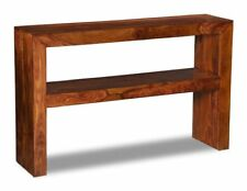 LIVING ROOM FURNITURE SHEESHAM FURNITURE CUBE CONSOLE TABLE (C23)