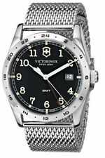 New Victorinox Swiss Army Infantry GMT 40mm Steel Mess Band Men's Watch 241649