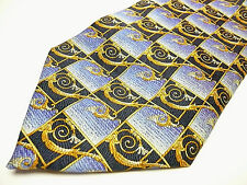 PAPILLON Tie. Made in France. New. 100% Silk.Gorgeous colors. Blue, Gold, Navy