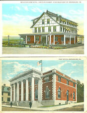 Greensburg PA Lot of 2 The Post Office and Mountain View Inn