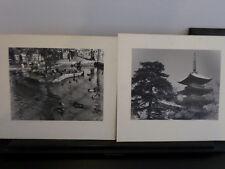 2 Vintage Photographs Cardboard Japan scenes