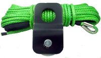 """1/4"""" x 50' Synthetic Winch Rope With 4 Ton Snatch Block ATV/UTV Recovery Cable"""