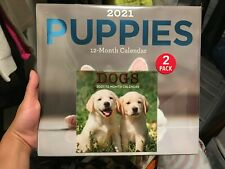 2021 Puppies + Dogs Mini Calendar 2 Pack New Sealed 11x12 in 12 Months