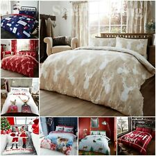 Christmas Bedding Duvet Cover Poly Cotton Santa Single Double King Size Quit Set