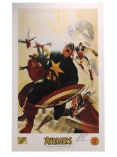 Avengers Commemorative Lithograph Signed Alex Ross Artist Marvel Comics Heroes