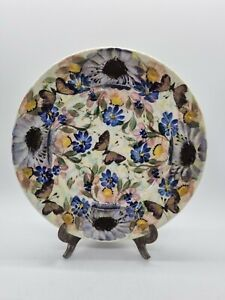 """Gwili Pottery Butterfly & Flower Decorated 7½""""  Side Plate Studio Art"""