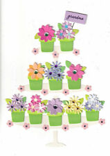 Papyrus  Mother's Day card - Grandma Grandmother Potted Plants Daisies in Pots