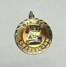 "NOS 1960's 12K Gold Filled Elco ""Dia De Graduacion"" Diploma Medal Pendant"