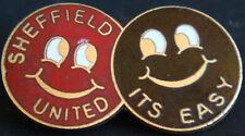 More details for sheffield united fc rare vintage badge maker p&g sports brooch pin 37mm x 21mm