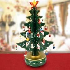Carillon Natalizio Albero di Natale Legno con Addobbi 33cm Decorazioni Natalizie