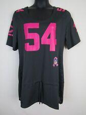 e9bf96eca NFL Team Apparel Womens  54 Urlacher Poly Gray   Pink Short Sleeve Jersey  ...