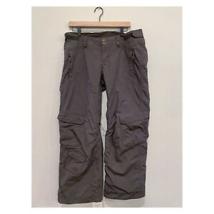 The North Face Women's HyVent Snowboard Ski Insulated Snow Pants Size LG BROWN