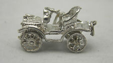 3D argento Sterling Charm AUTO IN MOVIMENTO Vintage