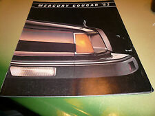 1983 Mercury Cougar Sales Brochure - Vintage