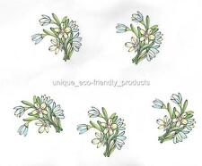 LOT 5, yellow and blue flowers Temporary Tattoo small size