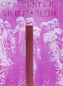 Jim Dine•GILBERT & SULLIVAN•City Center New York Theatre Poster 25x35 Mint