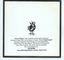 (EA265) Fionn Regan, For A Nightingale - 2011 DJ CD