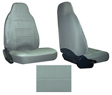 Grey Quilted Velour Encore High Back Bucket Car Truck SUV Seat Covers #Y