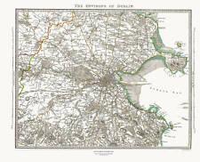 Dublin Environs, Ireland in 1837 SDUK map