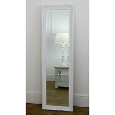 "Cannes White Shabby Chic Full Length Antique Dress Mirror 16"" x 52""  Medium"
