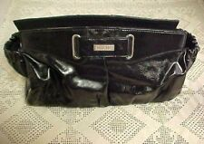 Miche Classic Shell Black Faux Leather Pouch Buckle 11 1/2 x 6 1/4 Elastic Sides
