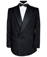 "Finest Barathea Wool Double Breasted Dinner Jacket 42"" Long"