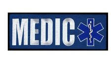EMT USA Flag Medic Ems Tactical HOOK Back Panel Patch (8.0 X 3.0 Inch )