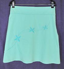 "JANE NORMAN Spring / Summer Skirt 32"" Waist Turquoise Aqua Blue Floral Beading"