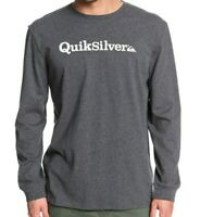QUIKSILVER MENS T SHIRT.NEW FRACTION OF MIND GREY COTTON LONG SLEEVED TOP 9W 1KT