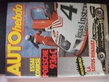 ** Revue Auto Hebdo n°355 Opel Kadett GTE / Schlesser / 936 C / Monte Carlo