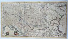 Rare Detailed Map of Hungary - TOTIUS REGNI HUNGARIAE by Visscher in 1689