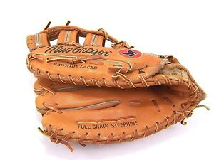 "MacGregor Baseball Glove LHT MG60F 12.25"" Big Mac Multi Flex Steerhide Leather"