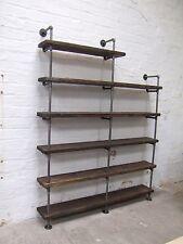 Metal Pipe Frames & Reclaimed Scaffold Plank Shelf Bookcase 1.6m x 2.4m x 30cm