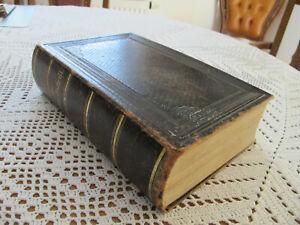 Alte antike Bibel, Heilige Schrift, von 1877, mit Familienchronik