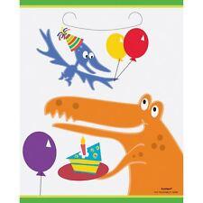 Dino Dinosaur Plastic Party Loot Bags Pk of 8