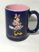 VTG Walt Disney World Coffee Mug Cup Purple MINNIE MOUSE Pink 16 oz Thailand