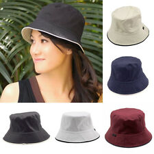 Men Women Unisex Cotton Bucket Hat Double Side Fishing Boonie Bush Cap Su ss